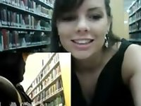 Masturbating In Public School Library On Webcam video on StupidCams