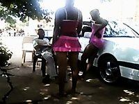 South african beauties fuck girls outside video on StupidCams
