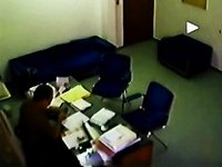 Quick amateur blow in the office video on StupidCams