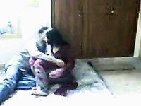 Hawt desi woman making love with her boyfriend on hidden web camera video on StupidCams