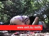 Sucking anal drilling and fucking in nature video on StupidCams
