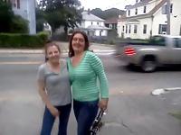 Amateur lesbian public making out video on StupidCams
