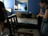 Mother I'd Like To Fuck gets banged on chair video on StupidCams
