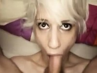 Golden-Haired Eats Big Penis video on StupidCams