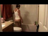 Consummate non-professional cutie in nature's garb shower movie scene HardSexTube video on StupidCams