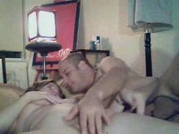 Sex-couple stroke and finger in bed video on StupidCams