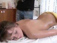 Massage gangbanged facialized video on StupidCams