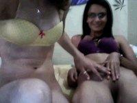Hot teen lez fun on a webcam show video on StupidCams