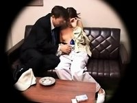 Japanese abode wife creampied by her boss video on StupidCams