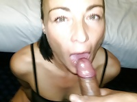 Friend swallowing a creamy load! video on StupidCams