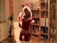 Christmas booty to throat video on StupidCams