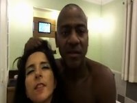 Brazilian Cuckold Wife Engulf BBC Front of Hubby video on StupidCams