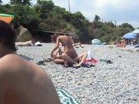Sex on the beach of Odessa video on StupidCams