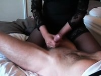 Jerking Off a long hard strapon video on StupidCams