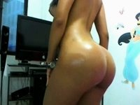 latin babe colombian nataly stunning arse a-hole video on StupidCams