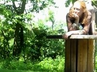 redhead fucking outdoor video on StupidCams