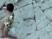 Riding a dick on the beach video on StupidCams