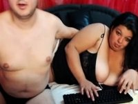 My chubby wife and I posing online video on StupidCams