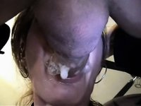 Chick gets mouth fucked and gags video on StupidCams