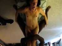 Slim wife receives it up in her tummy video on StupidCams