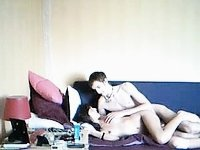 amateur couple fucking on couch video on StupidCams