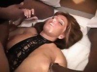 Interracial cuckold. video on StupidCams