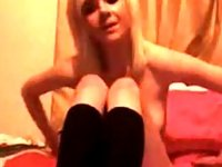 Young blonde hitachi and dildo for her tight pussy video on StupidCams