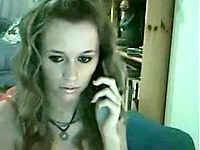 Talking on the phone naked video on StupidCams