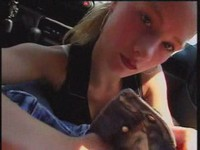 Blonde gets busy with rod video on StupidCams