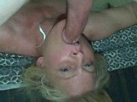Horny wife deepthroating her husband video on StupidCams