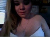 19yo blonde chubby teen masturbates on webcam video on StupidCams