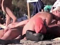 French Naturist Woman Strokes Cocks Of Two Men On Nudist Beach video on StupidCams