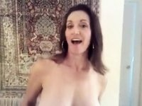 Busty Russian Wife Teases with Big Bouncy Love Bubbles video on StupidCams