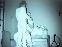 Pounding during the time that standing on bed video on StupidCams