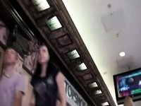 Shopping carefully in nature's garb skirts video on StupidCams