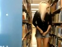 Naked In School Library On Webcam video on StupidCams