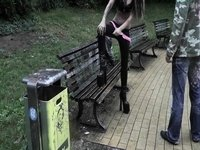 Geile-Cindy sex in park to resturant video on StupidCams