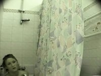 Real spy cam in the bathroom video on StupidCams