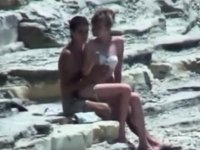 Legal Age Teenager lovers couple on beach video on StupidCams