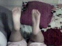 Wonderful homemade oral-job and cum on feet video on StupidCams