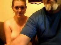 webcam amateur young old grandpa gets sucked video on StupidCams