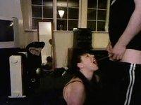 Giving Sasha a mouthful porno fetish video on StupidCams