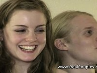 Real teen couple Beatrix Bliss and Drew video on StupidCams
