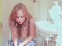 Sexy private blond video on StupidCams