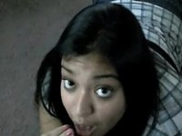 Pretty Lalin Gal gobbles on that knob video on StupidCams