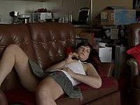 hot brunette masturbation video on StupidCams