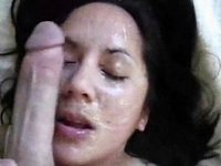 My wife sucking my balls for facial video on StupidCams