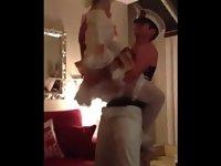 Costumed Busty Brit Rubs Down & Spanks Birthday Stripper video on StupidCams