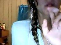 Smoking Hot Omegle Girl Strips video on StupidCams