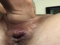 Dark Brown Hair Whore Strokes His Shlong While Licking His Balls video on StupidCams